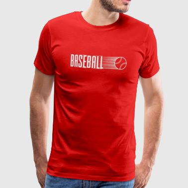 Baseball with flying ball - Men's Premium T-Shirt