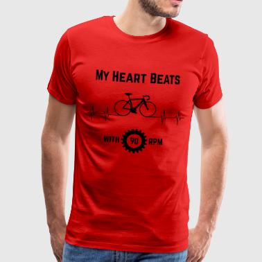 My Heart Beats Avec 90 RPM - T-shirt Premium Homme