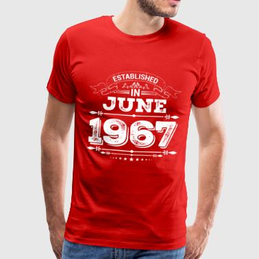 Established in June 1967 - Men's Premium T-Shirt