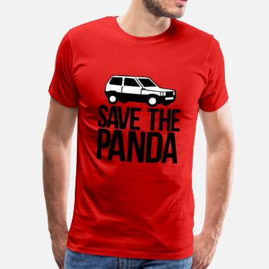 Save The Planet save the panda - Mannen Premium T-shirt