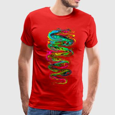 Color your life! Rainbow, Music, Trance, Techno, Goa - Men's Premium T-Shirt