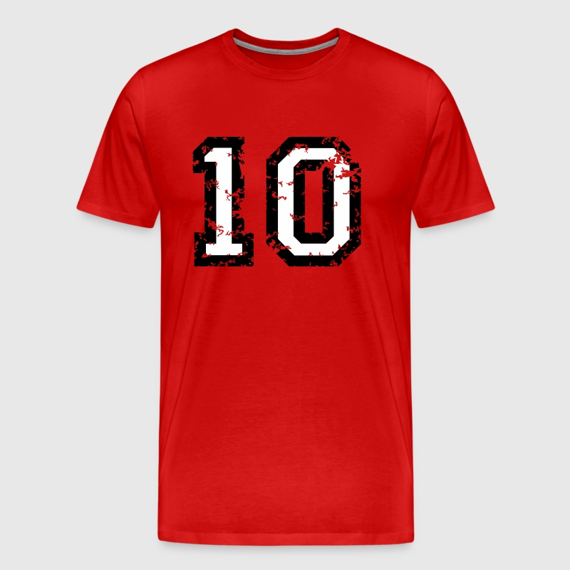 The Number Ten - No. 10 (two-color) white - Men's Premium T-Shirt