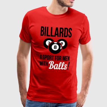 Billiards - a sport with balls - Men's Premium T-Shirt