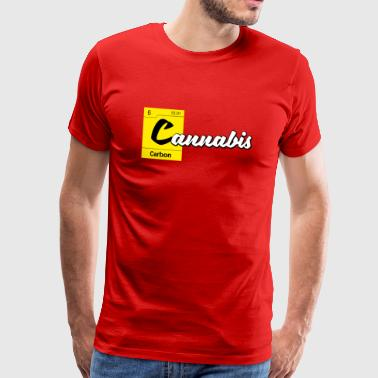 Cannabis Periodic Table Carbon - Men's Premium T-Shirt