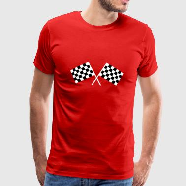 Car racing flags - Men's Premium T-Shirt