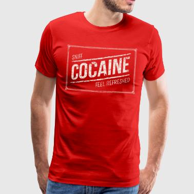 Sniff Cocaine - Cocaine funny drug designs - Men's Premium T-Shirt