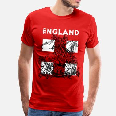 St Georges Day England and St George. - Men's Premium T-Shirt