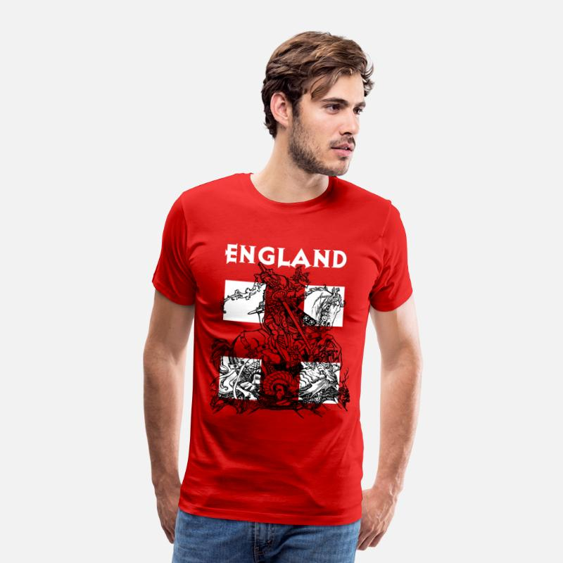 St T-Shirts - England and St George. - Men's Premium T-Shirt red
