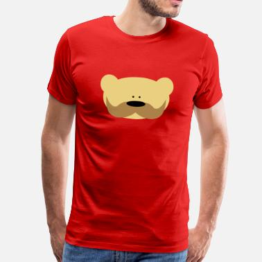 Gay Snor Teddy Bear Moustache Baby body - Mannen Premium T-shirt