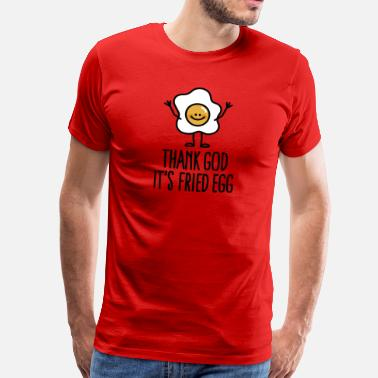 Sunny Thank god it's fried egg - Men's Premium T-Shirt