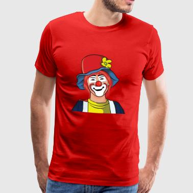 Clown or clown face for the carnival - Men's Premium T-Shirt