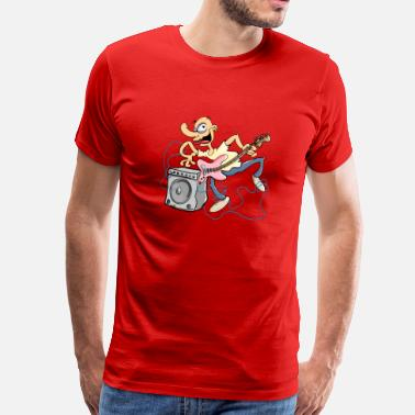 Guitare Basse Guitare Basse fou Tee shirts - T-shirt Premium Homme