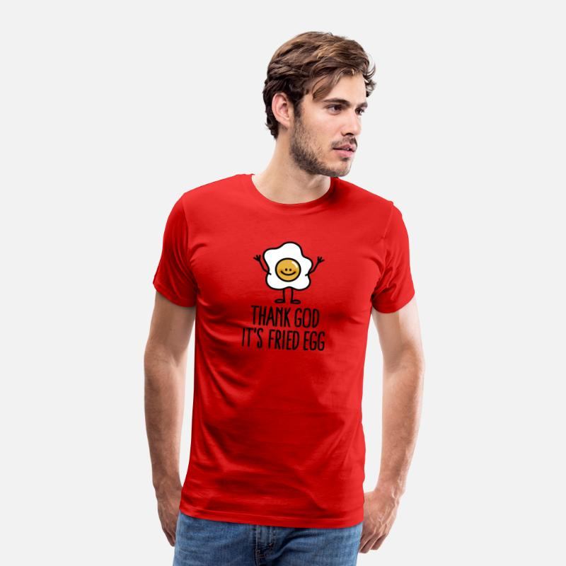 Cool T-Shirts - Thank god it's fried egg - Men's Premium T-Shirt red