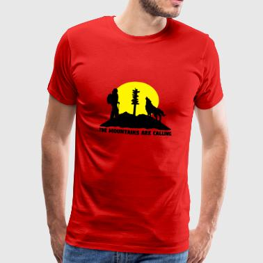 Hiking woman - The mountains are calling - Premium T-skjorte for menn