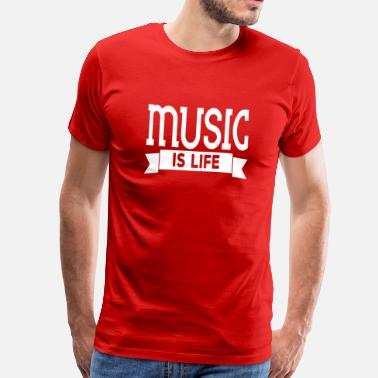 Music Is Life Equalizer music is life - Men's Premium T-Shirt