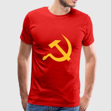 Hammer Og Segl hammer and sickle / soviet union / russia - Herre premium T-shirt