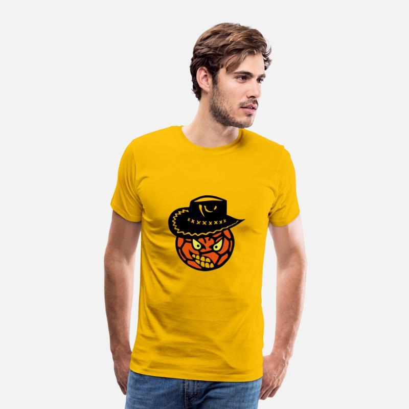 oro Pallamano Cappello da cowboy cartone animato faccia Maglietta premium  uomo  392d6fe05415