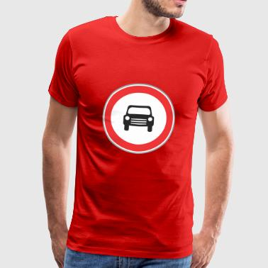Road sign small sign - Men's Premium T-Shirt