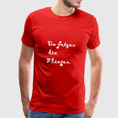 The flies are tearing. - Men's Premium T-Shirt