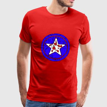 Military Aircraft broken Star - Men's Premium T-Shirt