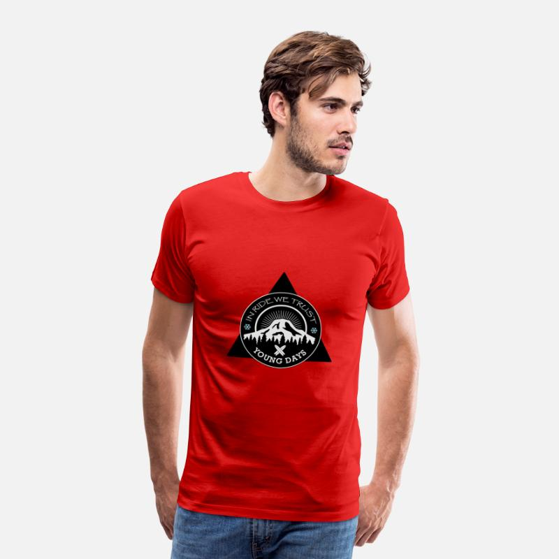 After Ski T-Shirts - In Ride We Trust - Men's Premium T-Shirt red