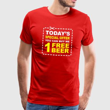 Free Beer - Special Offer Coupon - Men's Premium T-Shirt