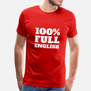 England 1966 Football Design 100% Full English - Men's Premium T-Shirt