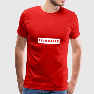 Filmmaker red on white - Men's Premium T-Shirt