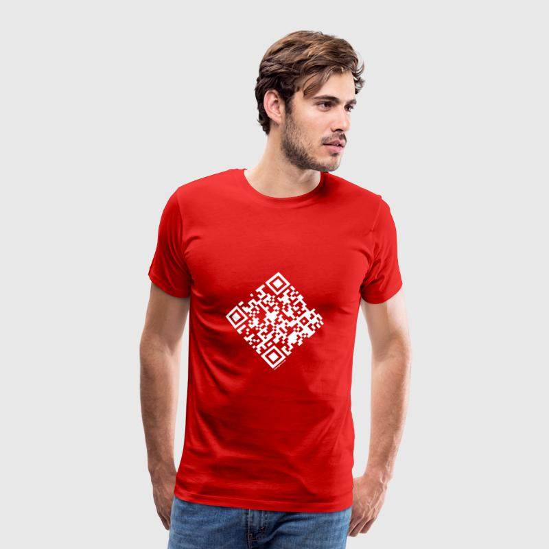 QR Code - Marriage Proposal - Will you Marry Me? - Men's Premium T-Shirt