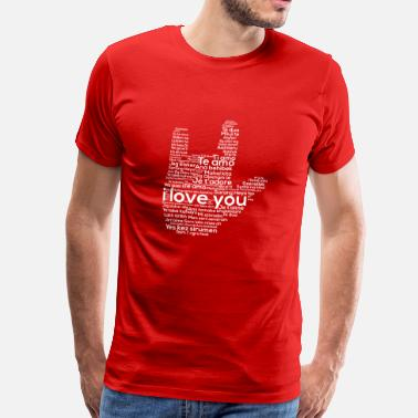 Sign Love In Every Language American Sign Language ASL - Männer Premium T-Shirt