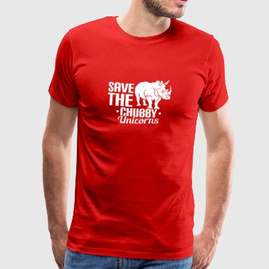 SAVE THE CHUBBY EENHOORNS - UNICORN - REDDING - Mannen Premium T-shirt
