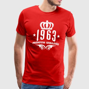 1963 Premium Quality Crown B Day Gift Shirt - Men's Premium T-Shirt
