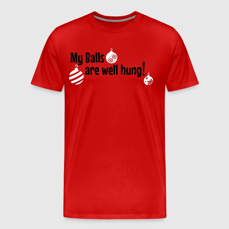 My Balls are well hung - Men's Premium T-Shirt
