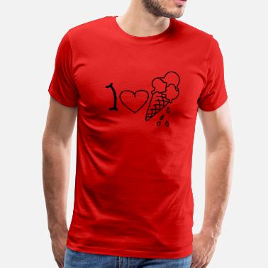 Spagettieis I love icecream - Men's Premium T-Shirt