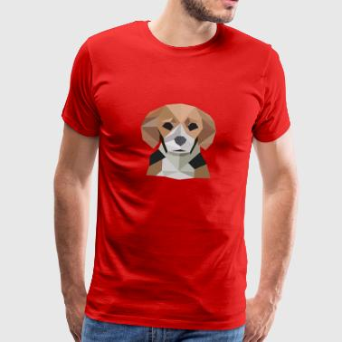 Beagle Dog Polygon Design Dog - Men's Premium T-Shirt