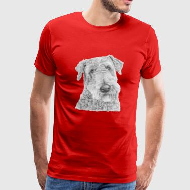 Copyright airedale terrier - Men's Premium T-Shirt