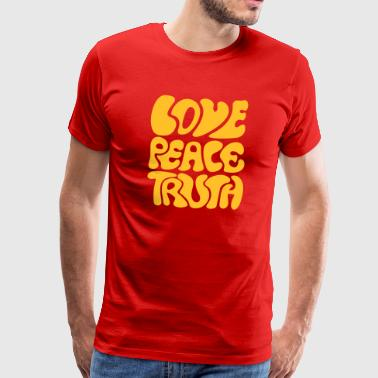 Love Peace Truth Love Peace Truth * 70s peace retro shanti goa  - Men's Premium T-Shirt