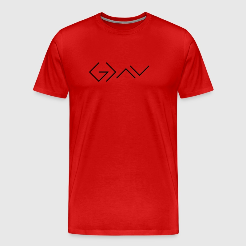God is greater than the highs and lows. - Men's Premium T-Shirt