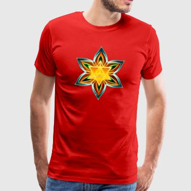 Flower of Life, Merkaba, Spiritual Symbol, Light - Men's Premium T-Shirt