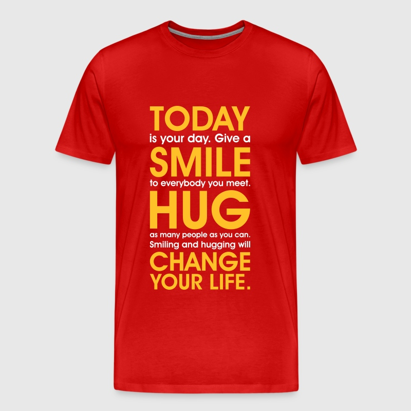 Love Smile Happinesss free hugs happy carpe diem - Men's Premium T-Shirt
