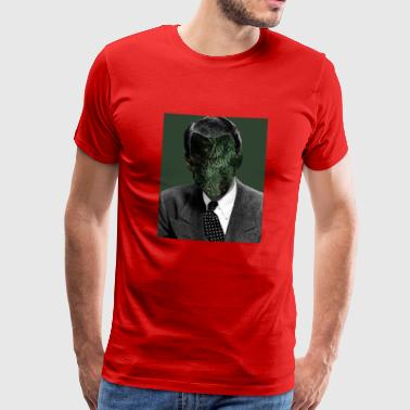 retro christmas face - Men's Premium T-Shirt