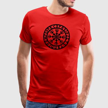 Rune magic Aegishjalmur, Helm of Awe - Men's Premium T-Shirt