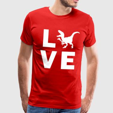 Syndicat NO-ATA : Rejoins l'aventure ! L-amour-dino-t-shirt-premium-homme