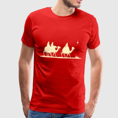 Three Kings Nativity Scene - Premium T-skjorte for menn
