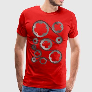 Gears with chain  - Men's Premium T-Shirt