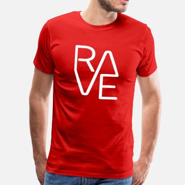 Dj Logo Regalo para DJ Rave Techno Dubstep Trance Party - Camiseta premium hombre