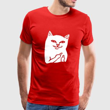 Cat Fuck Fuck you cat - Men's Premium T-Shirt