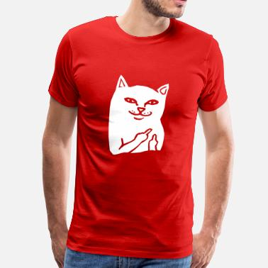 Fuck You Cat Fuck You Cat - Mannen Premium T-shirt