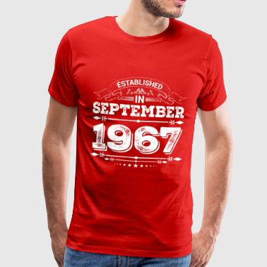 Established in September 1967 - Men's Premium T-Shirt