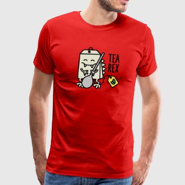 Tea Rex ( T-rex ) - Men's Premium T-Shirt